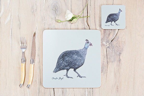 Violet Guinea Fowl Table Mat