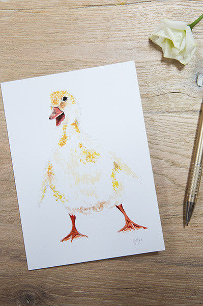 Doris Duckling Greetings Card
