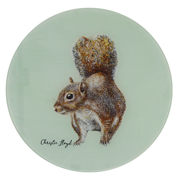 Cyril Squirrel Glass Platter