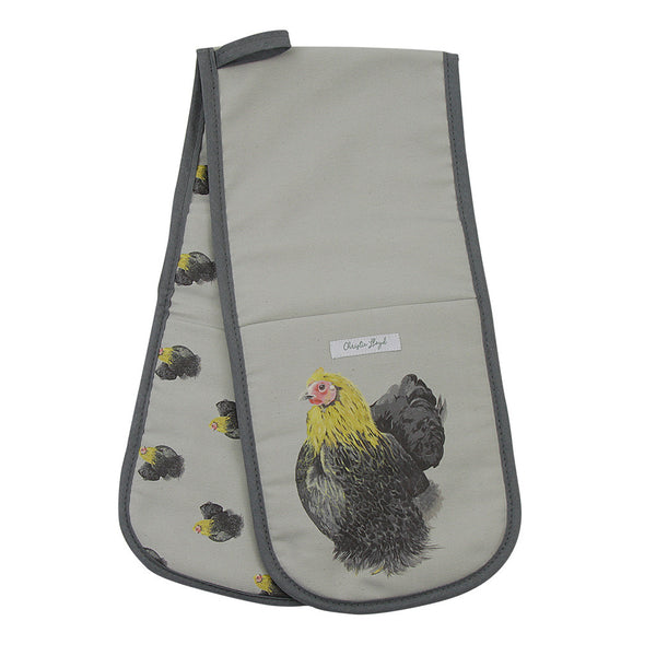 Daisy Hen Double Oven Gloves