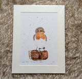 'Poppin Robin' Limited Edition Print