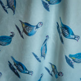 Glorious Partridges Velvet Fabric