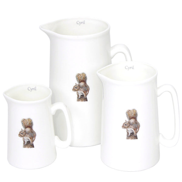 Cyril Squirrel Jugs