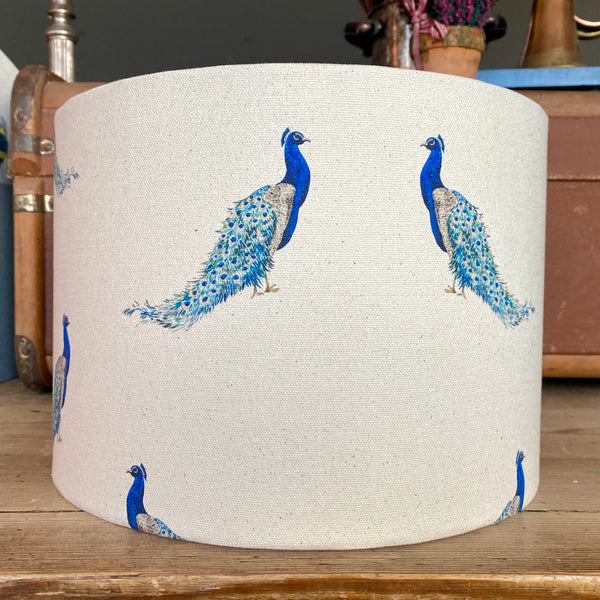 Albert Peacock Drum Lampshade - 30cm Table Lamp Fitting