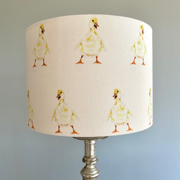 Doris Duckling Drum Lampshade - 30cm Table Lamp Fitting