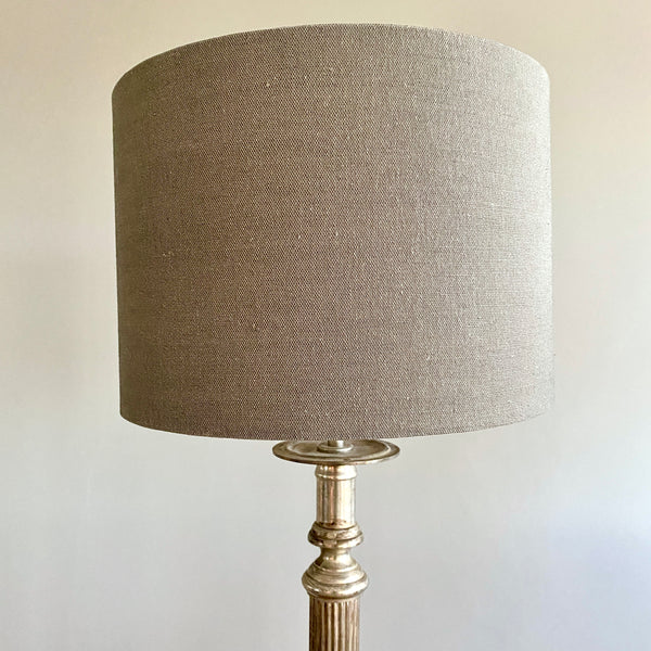 Victoria Grey Drum Lampshade - 30cm Table or Pendant Lamp Fitting