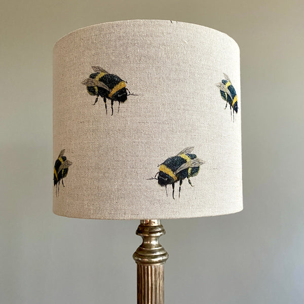 Beatrice Bee Drum Lampshade - 25cm Table Lamp Fitting