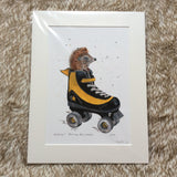 'Rollerhog' Limited Edition Print