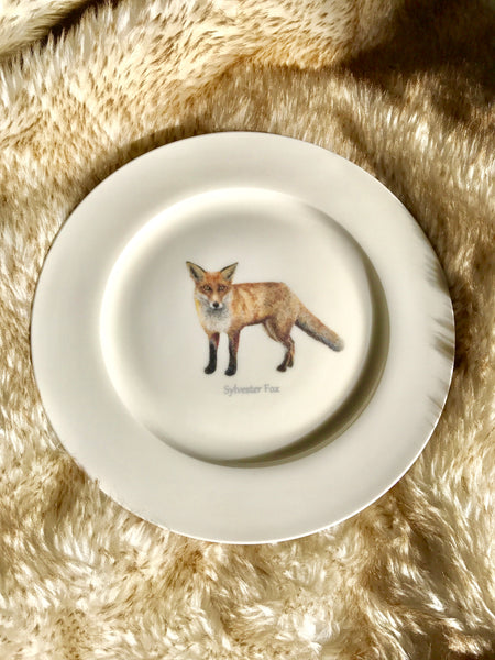 Sylvester Fox Dinner Plate  - Out of Stock (Please allow 6-8 weeks)