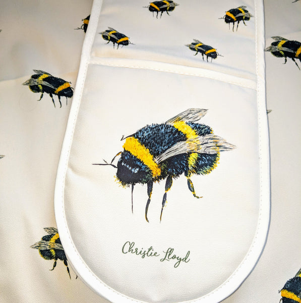 Bumble Bee Oven Gloves and Tea Towel Set