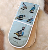Glorious Partridges Double Oven Gloves