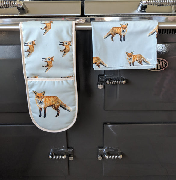 Sylvester Fox Oven Gloves & Tea Towel Set