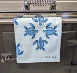 Blue Turtle Tea Towel