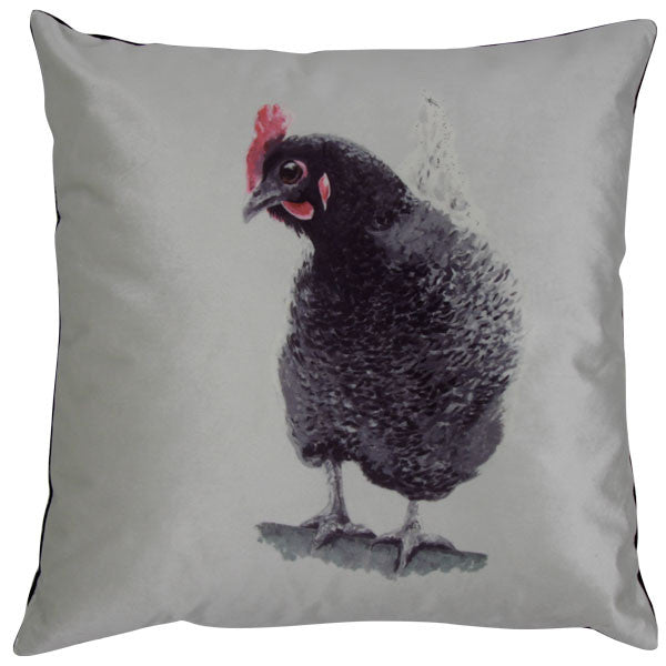Rosie Hen Velvet Cushion