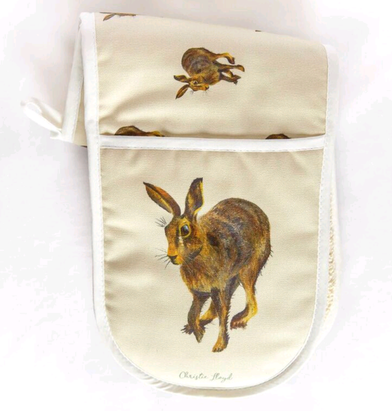 Harold Hare Double Oven Gloves