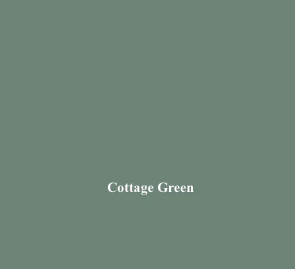 Ernie Pheasant Cottage Green Linen Fabric