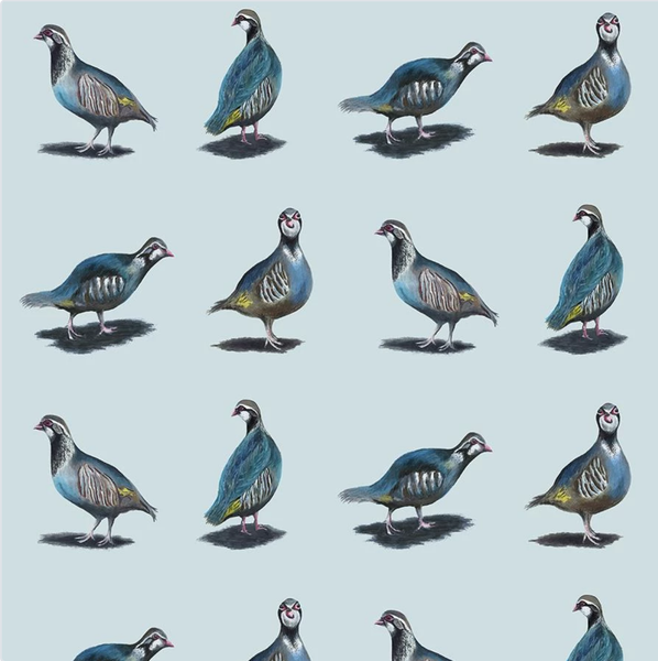 Glorious Partridges 100% Cotton Fabric