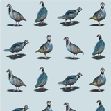Glorious Partridges Linen Fabric