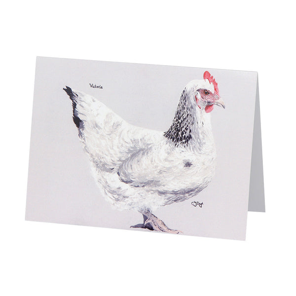 Victoria Hen Greetings Card
