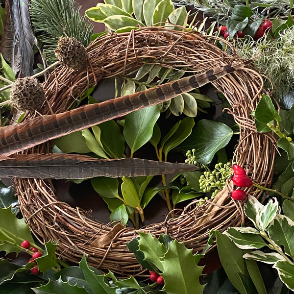 (POSTPONED) Natural Foliage Wreath Workshop - Sat 5th December