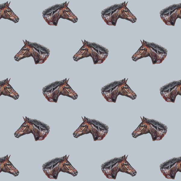 Smithy Horse Fabrics by the Metre - on Faded Denim Background