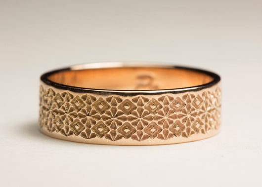 Unisex Wedding Band, Unisex Wedding Ring, Gold Unisex Band, Unisex Ring, Unisex Band, Pattern Ring