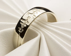 Personalized Sound Wave Ring, Sound Wave Wedding Ring, Sound Wave Jewelry, Gold Sound Wave Ring