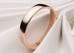 Rose Gold Wedding Ring, Rose Gold Wedding Ring, Simple Wedding Ring, , Simple Wedding Band