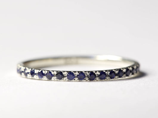 Pave Wedding Ring, Pave Wedding Band, Thin Wedding Band, Delicate ...