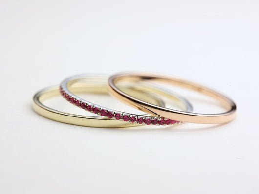 Thin Stacking Rings, Stacking Ring Set, Gold Stacking Rings, Stackable Wedding Band