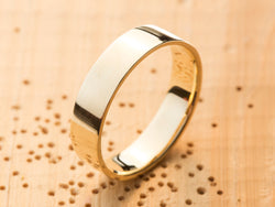 Men's Gold Wedding Ring, Mens Wedding Ring, Mens Wedding Band, Men's Wedding Ring