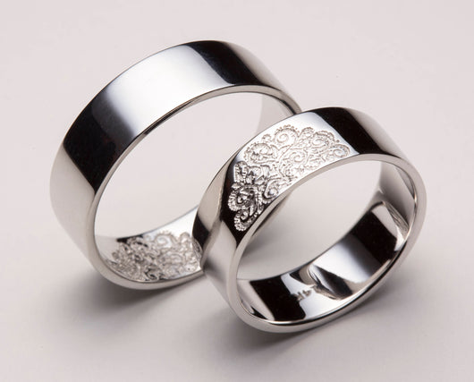 His and Hers Wedding Bands, Matching Wedding Bands, Matching Wedding Band Sets, Wedding Ring Set