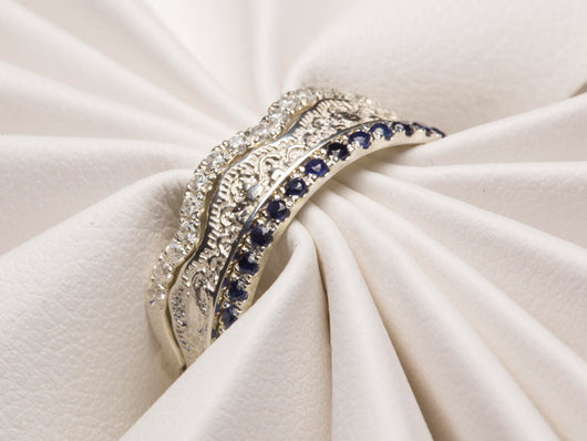 Diamond Sapphire Ring, Sapphire Diamond Ring, Diamonds Sapphires Ring, Sapphires Diamonds Ring