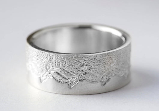 Platinum Wedding Ring, Anniversary Ring, Platinum Wedding Band, Platinum Lace Ring