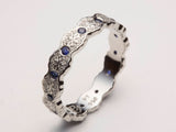 Platinum Wedding Band, Women Platinum Ring, Platinum Sapphire Ring, Platinum Eternity Band