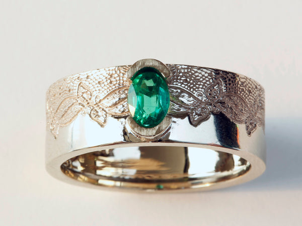 Emerald Engagement Ring, Emerald Ring, Engagement Ring, Oval Emerald Ring, Emerald Wedding Ring