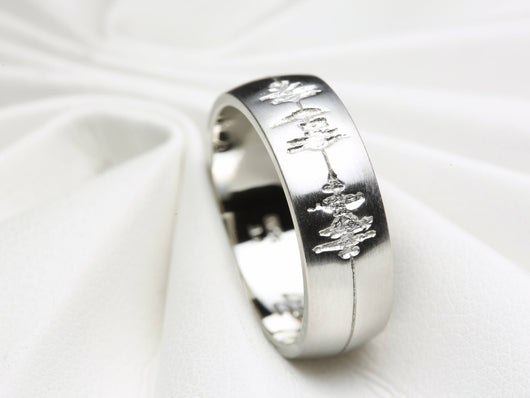 Soundwave wedding bands