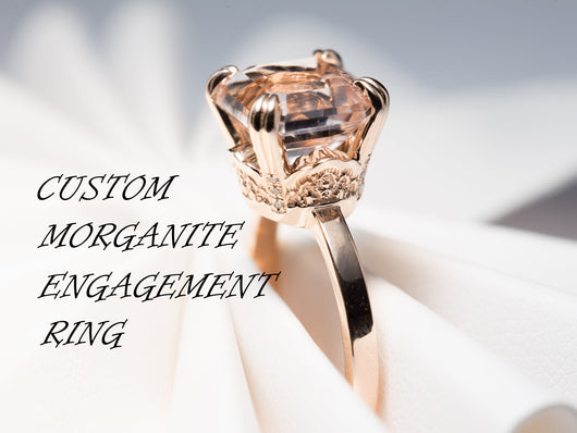 Morganite Engagement Ring, Custom Engagement Ring, Design Your Engagement Ring