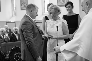 Exchanging of rings wedding galway Dublin