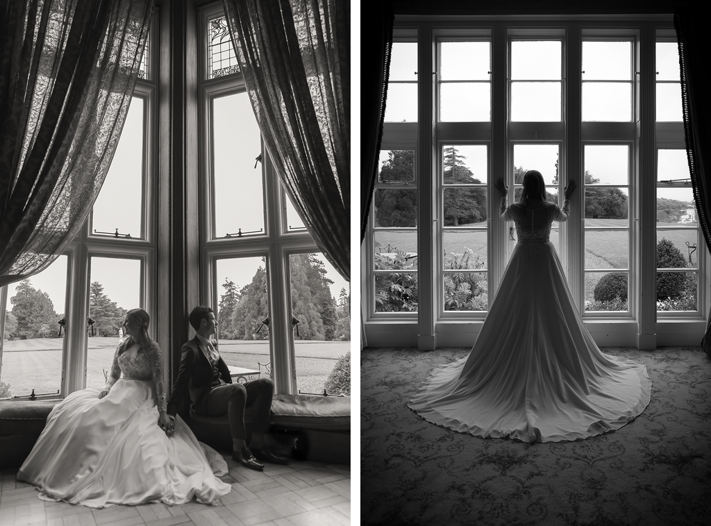 Stunning wedding photography Galway Lough Rynn Castle