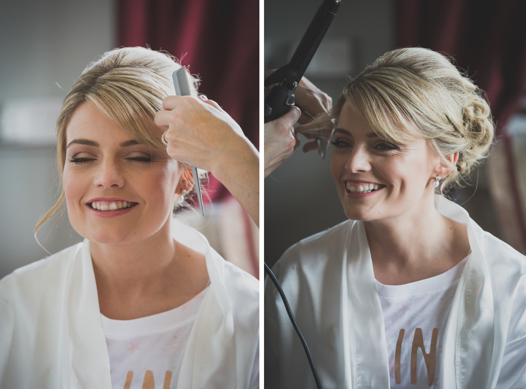 Bridal preparations hair makeup Roscommon Galway Wedding photography