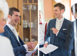 Groom Laughing fun wedding photography