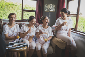 Bridesmaids Laughing Roscommon Galway Wedding photography morning preparations
