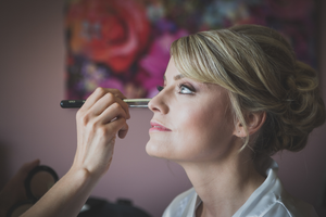 Bride wedding makeup eyes beautiful Roscommon Galway Wedding photography