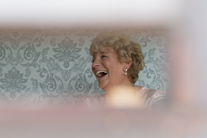 Brides mother Laughing Galway Roscommon wedding photography