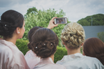 Wedding photography Galway Roscommon Mayo selfie with Bride And Bridesmaids