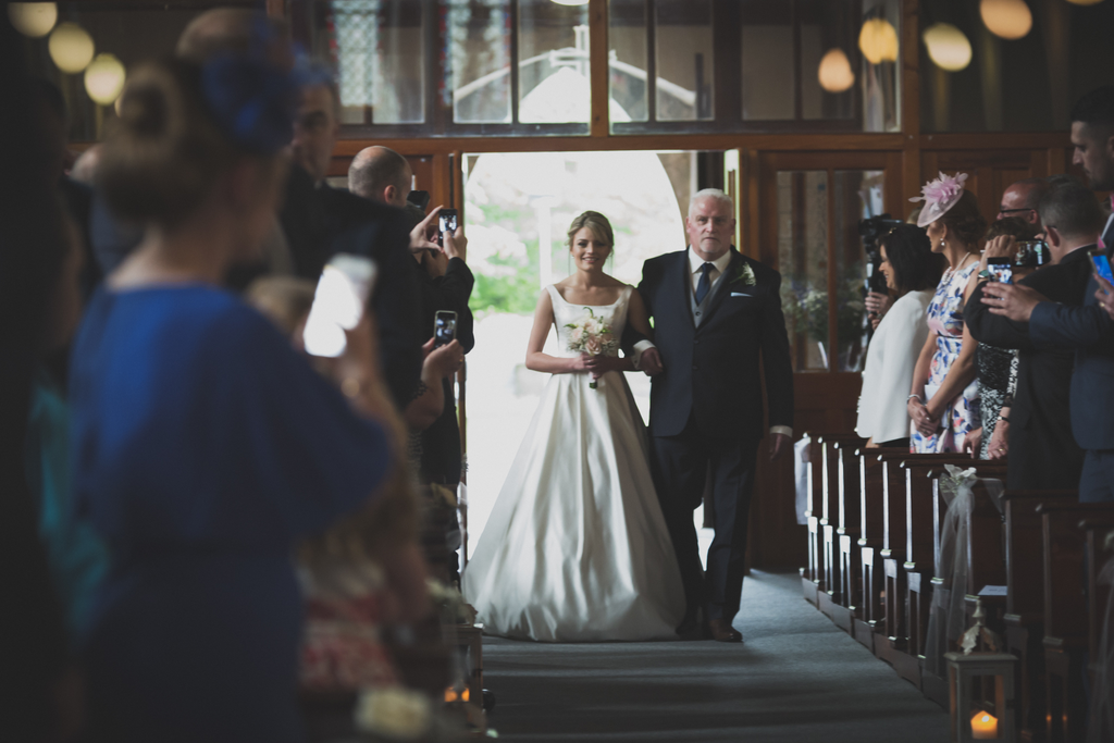 Bride walking up the aisle Beautiful Wedding photography Galway Roscommon west of Ireland