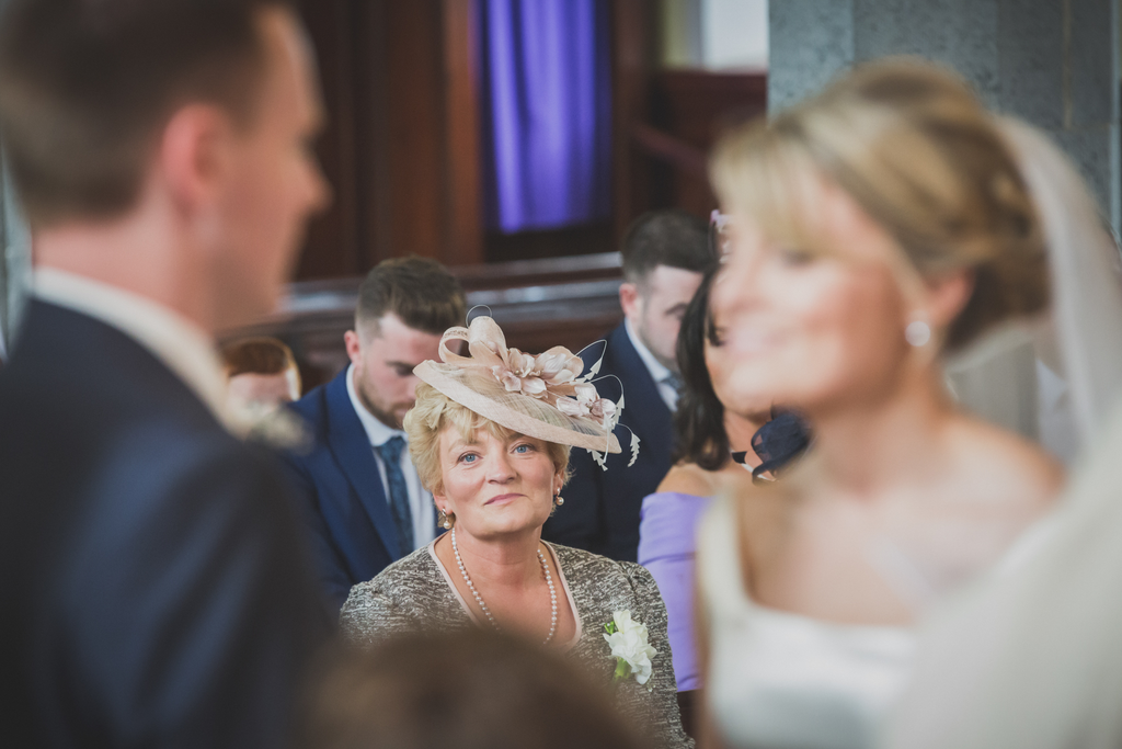 Mother of the Bride happy looking at the bride. Galway Loughrea Roscommon wedding photographer