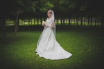 Fun relaxed wedding photography Bride posing under a tree in Roscommon Park