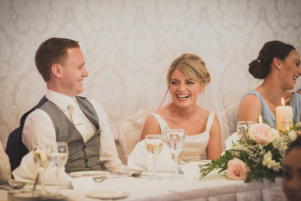 Wedding reception photography top table Abbey Hotel Roscommon Galway wedding photograher